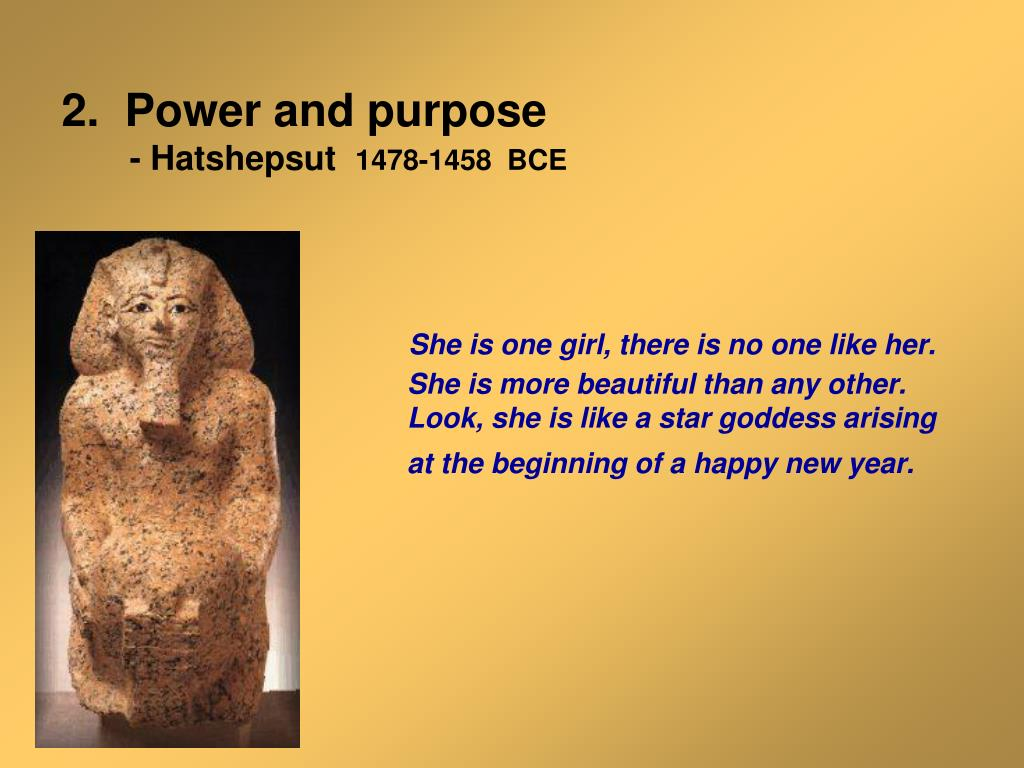 2.  Power and purpose