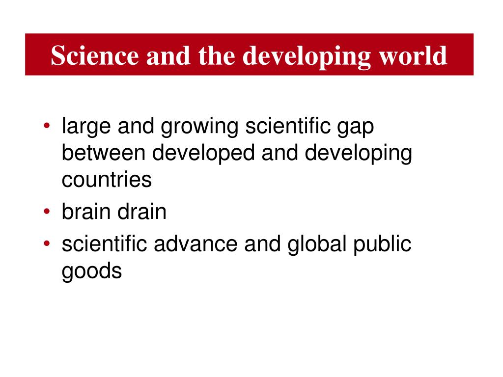 Science and the developing world