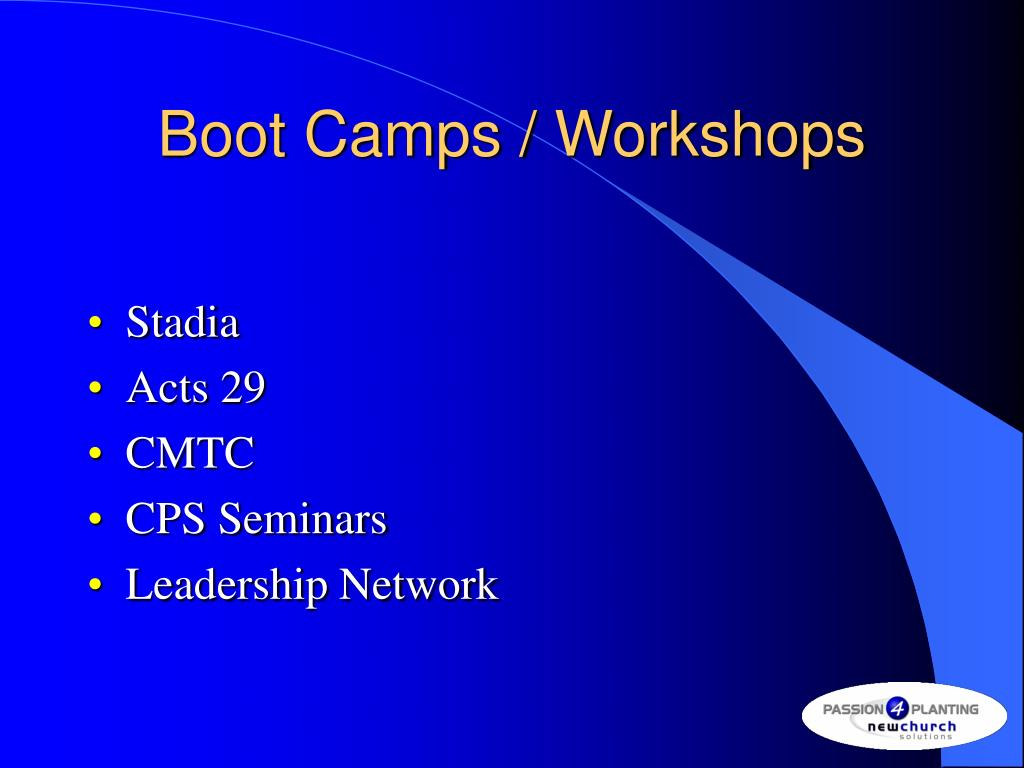 Boot Camps / Workshops