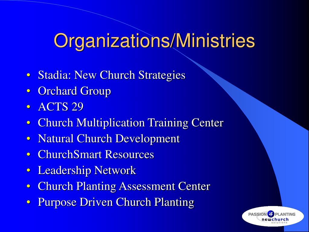 Organizations/Ministries