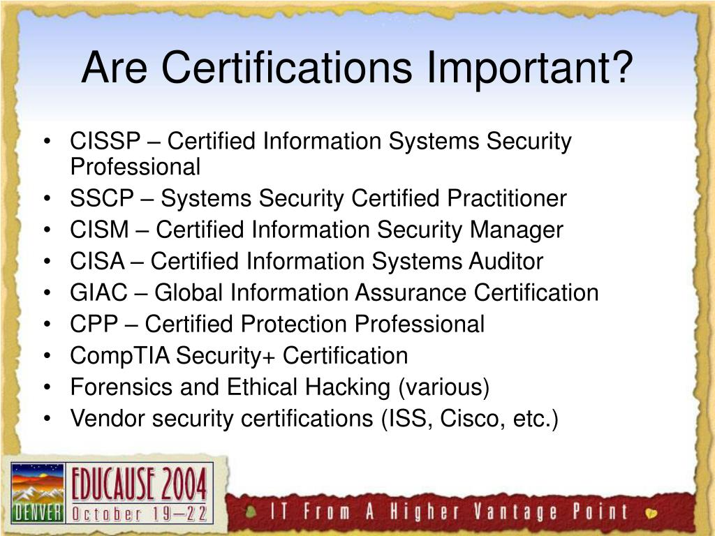 Are Certifications Important?