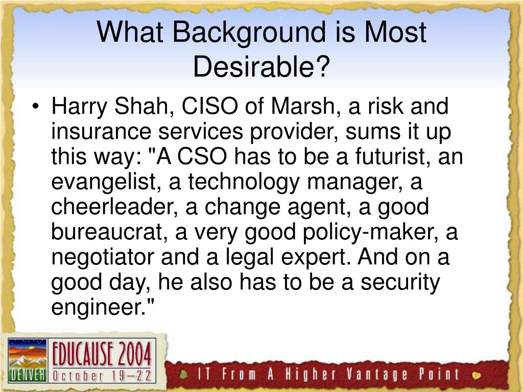 What Background is Most Desirable?
