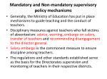 mandatory and non mandatory supervisory policy mechanisms