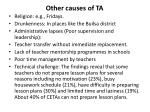 other causes of ta