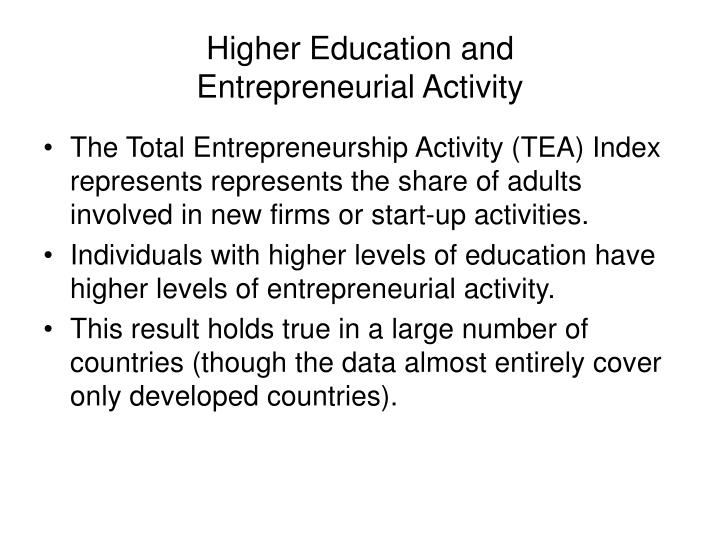 Higher Education and