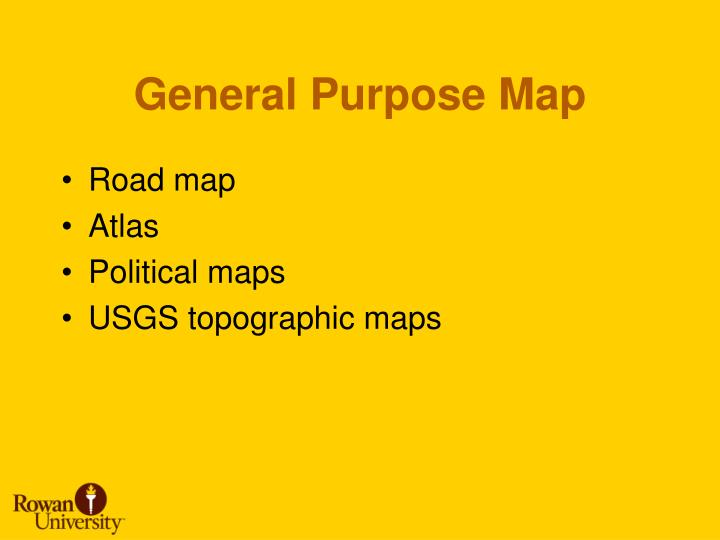 General purpose map