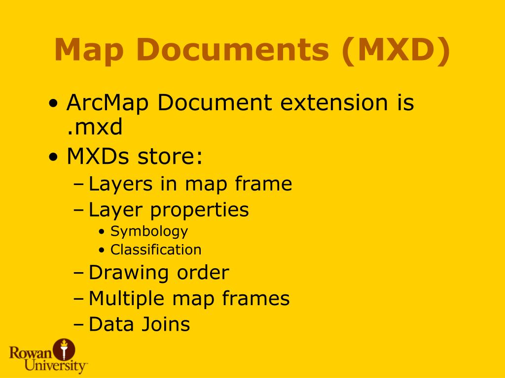 Map Documents (MXD)