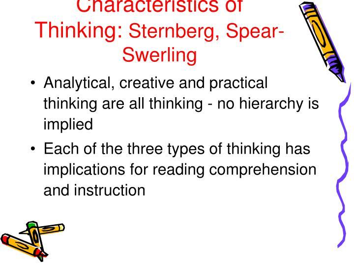 Characteristics of Thinking: