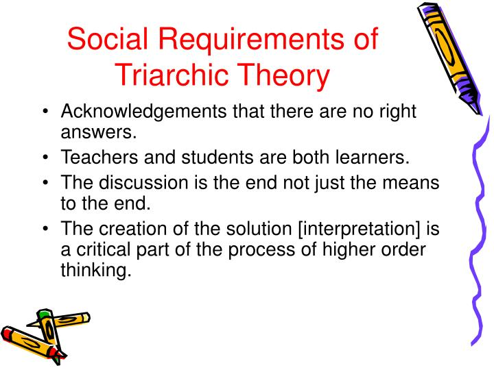 Social Requirements of Triarchic Theory