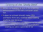 tyranny of the dusty deck