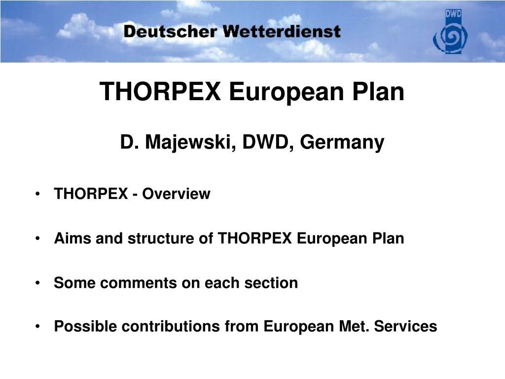 thorpex european plan d majewski dwd germany l.