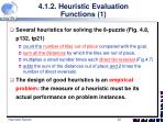 4 1 2 heuristic evaluation functions 1