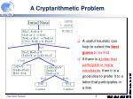 a cryptarithmetic problem