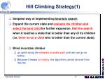 hill climbing strategy 1