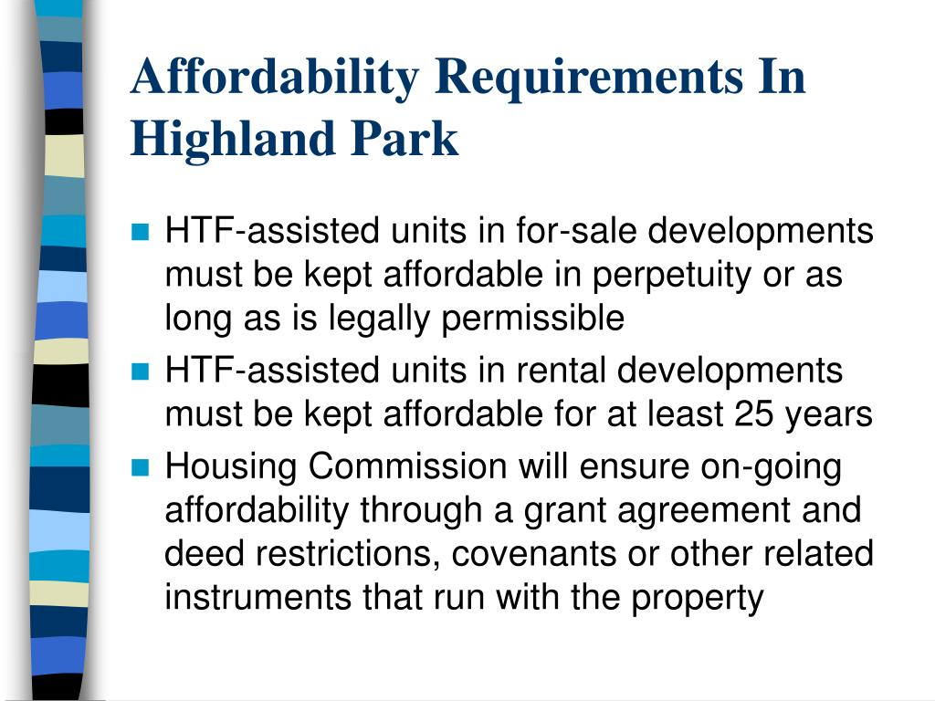 Affordability Requirements In Highland Park