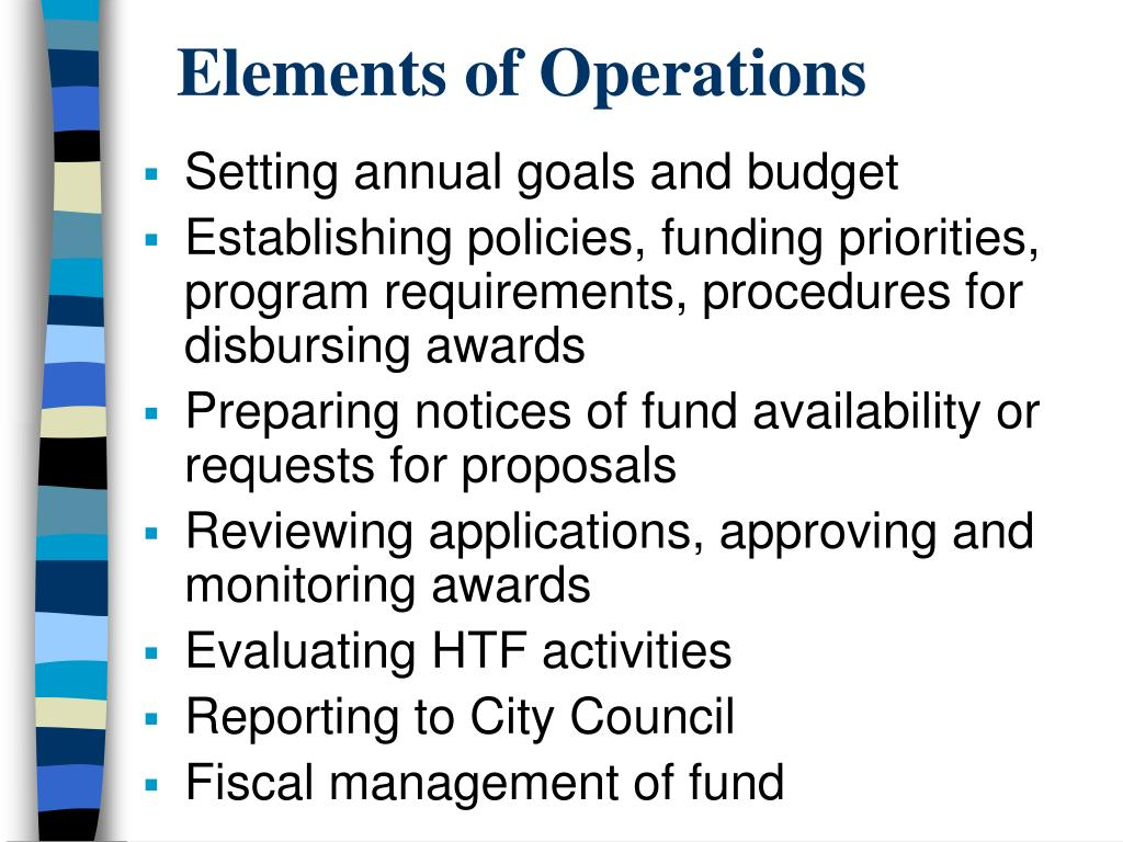 Elements of Operations
