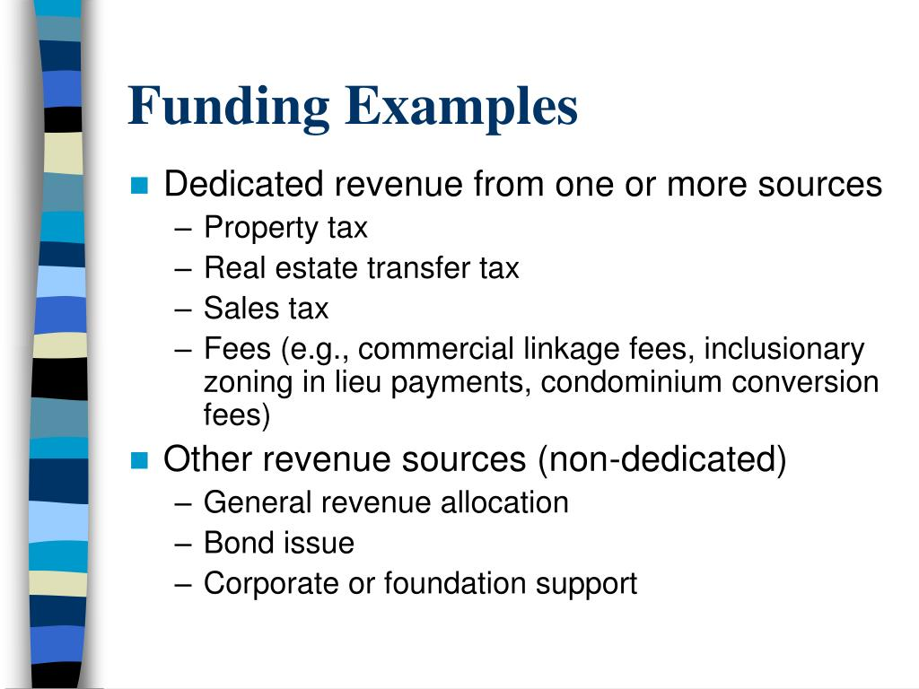 Funding Examples