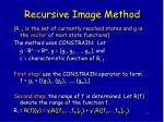 recursive image method