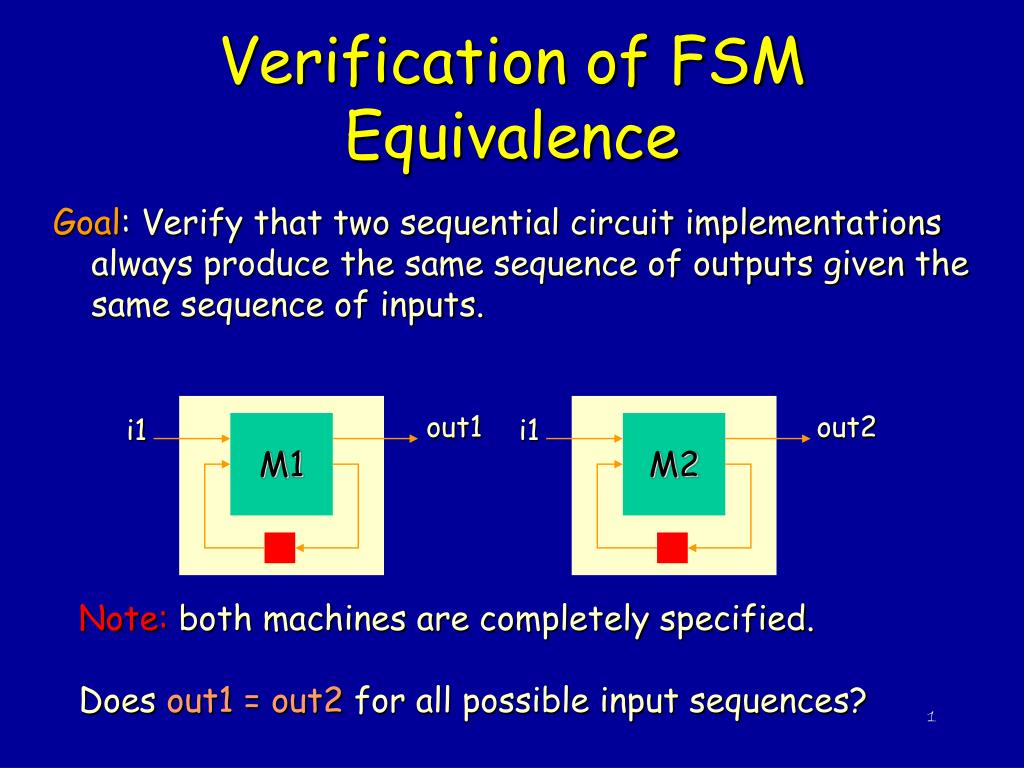 verification of fsm equivalence