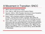 a movement in transition sncc