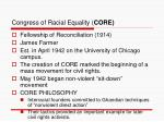 congress of racial equality core