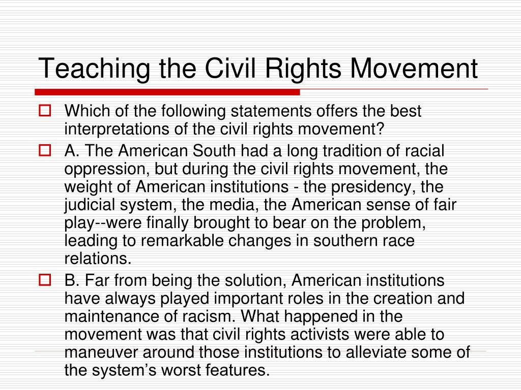 teaching the civil rights movement