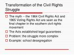 transformation of the civil rights struggle