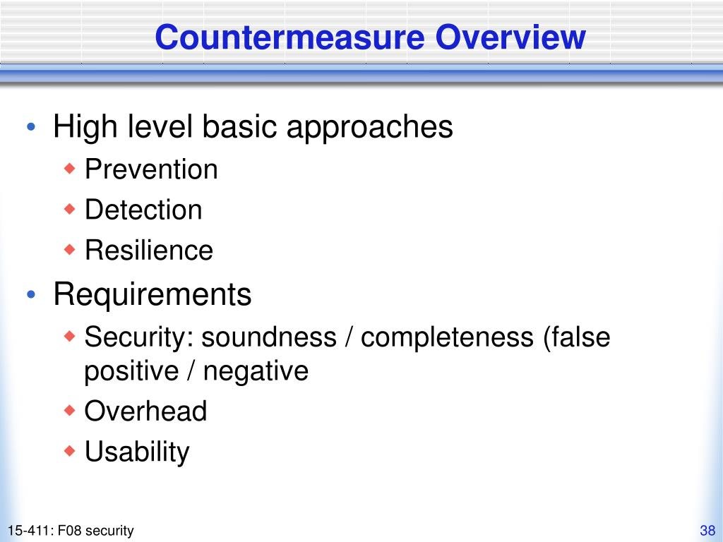 Countermeasure Overview