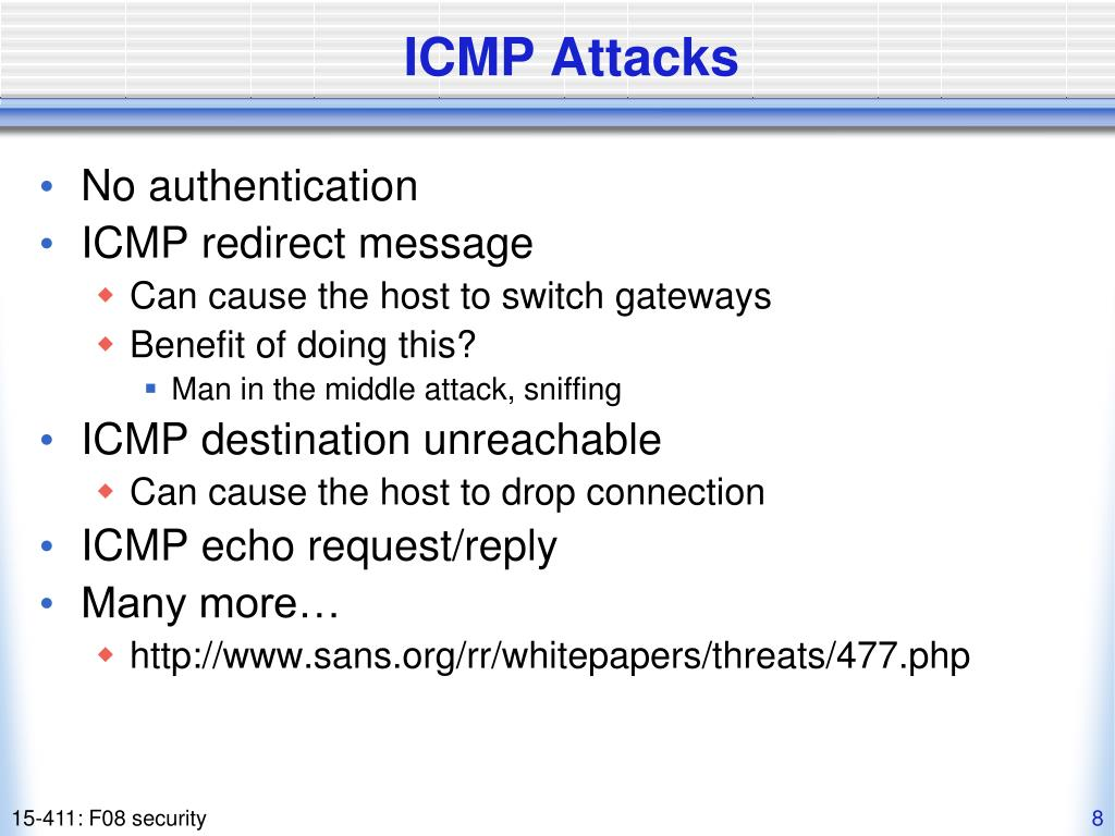 ICMP Attacks