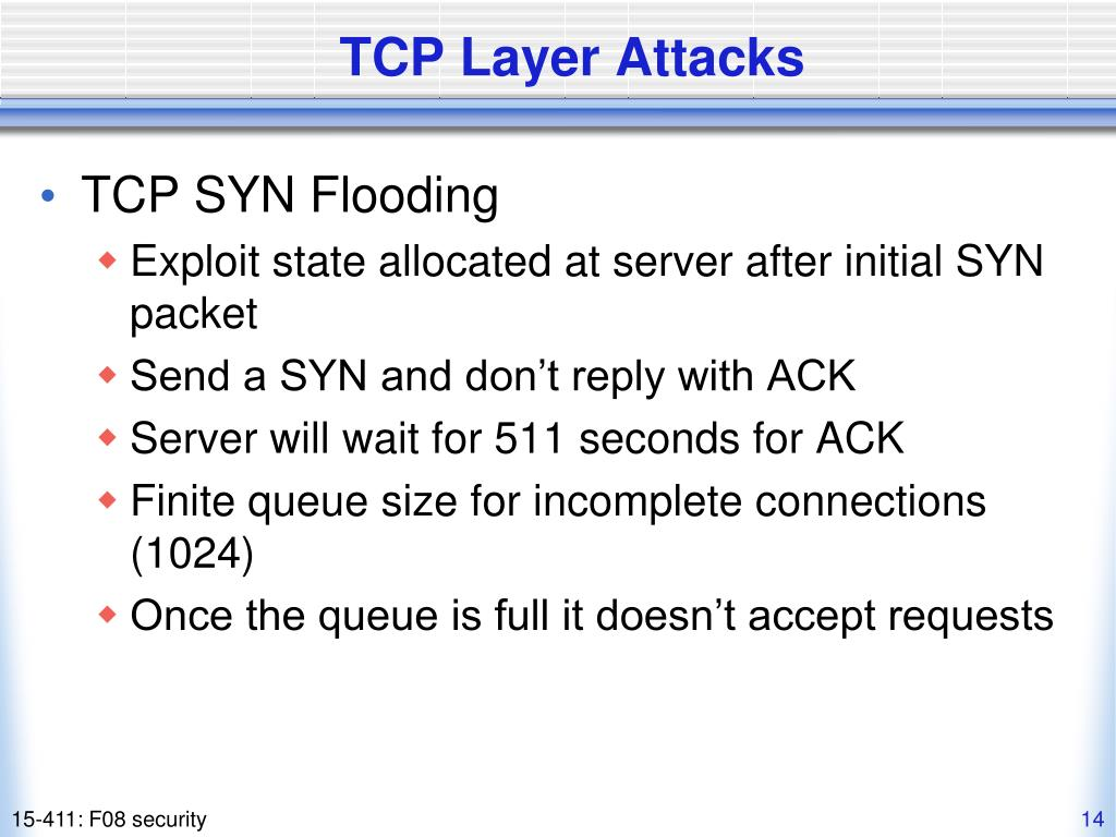 TCP Layer Attacks