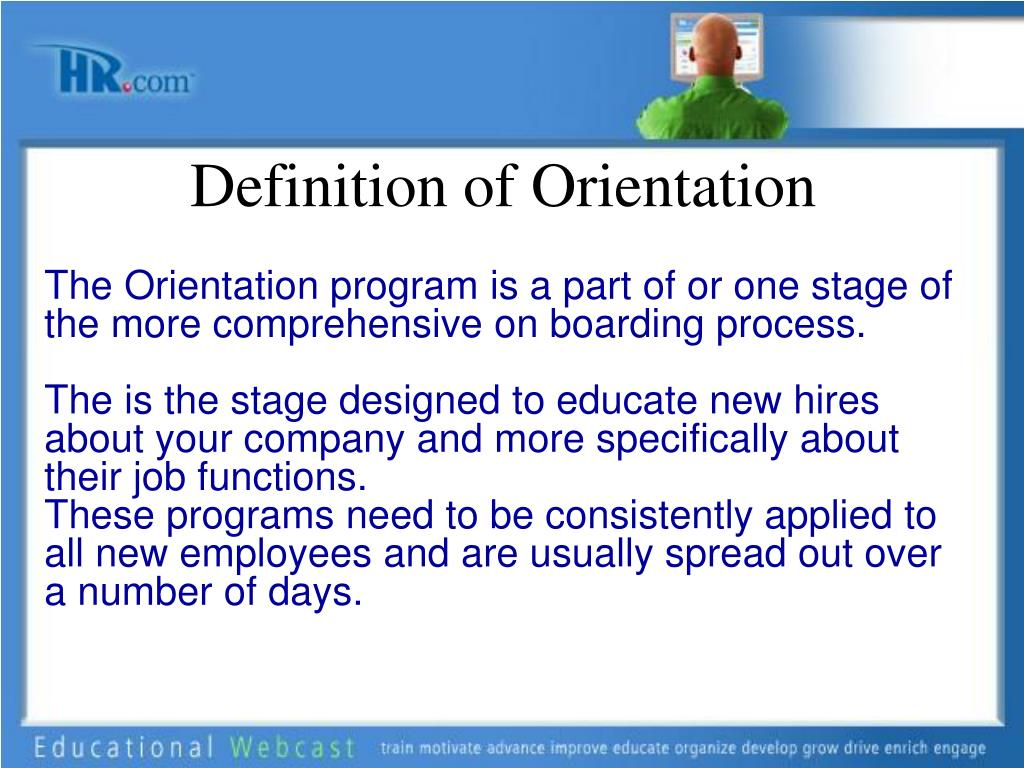 Definition of Orientation