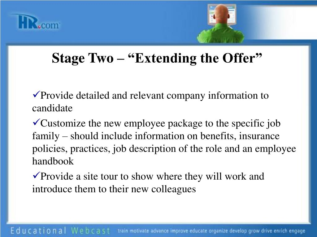 """Stage Two – """"Extending the Offer"""""""