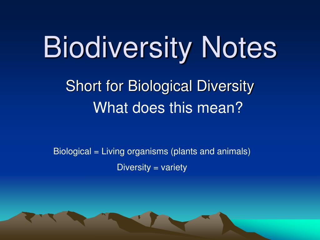 biodiversity notes l.