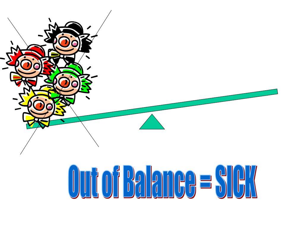 Out of Balance = SICK