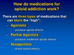 how do medications for opioid addiction work