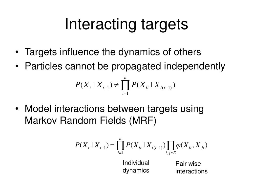 Interacting targets