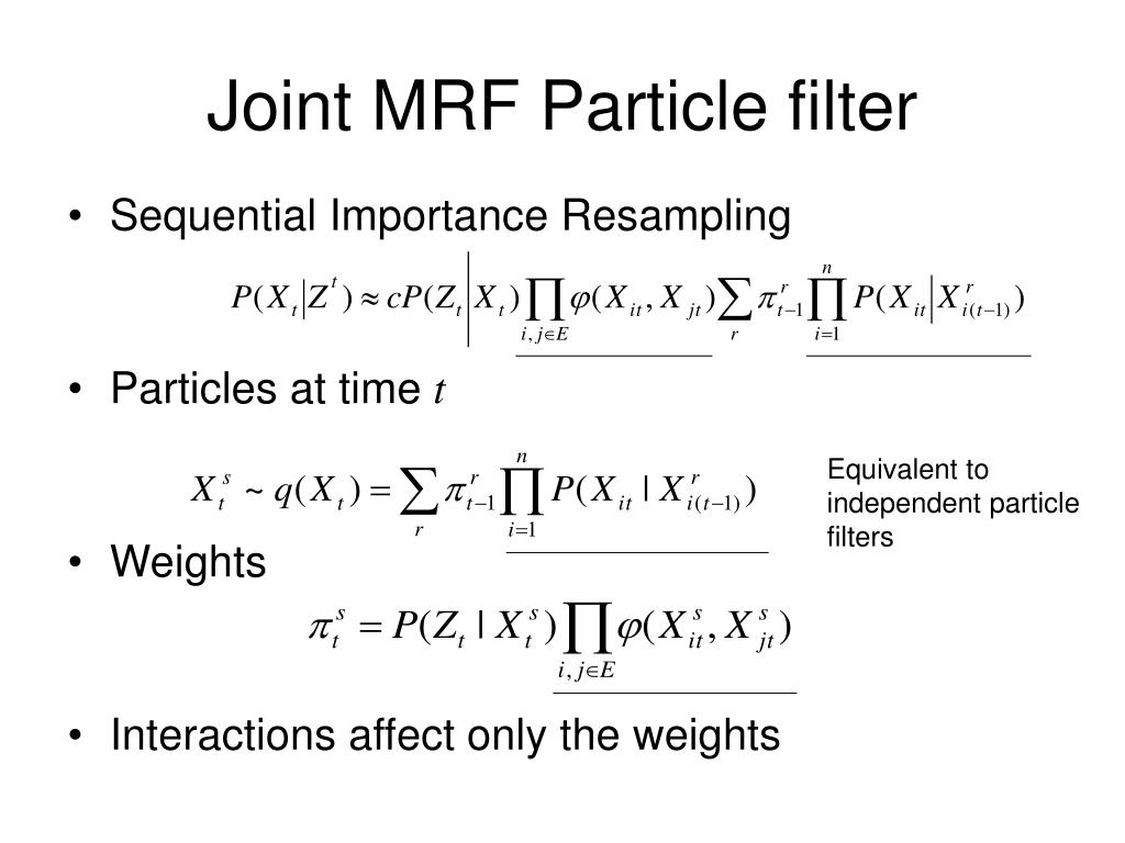 Joint MRF Particle filter