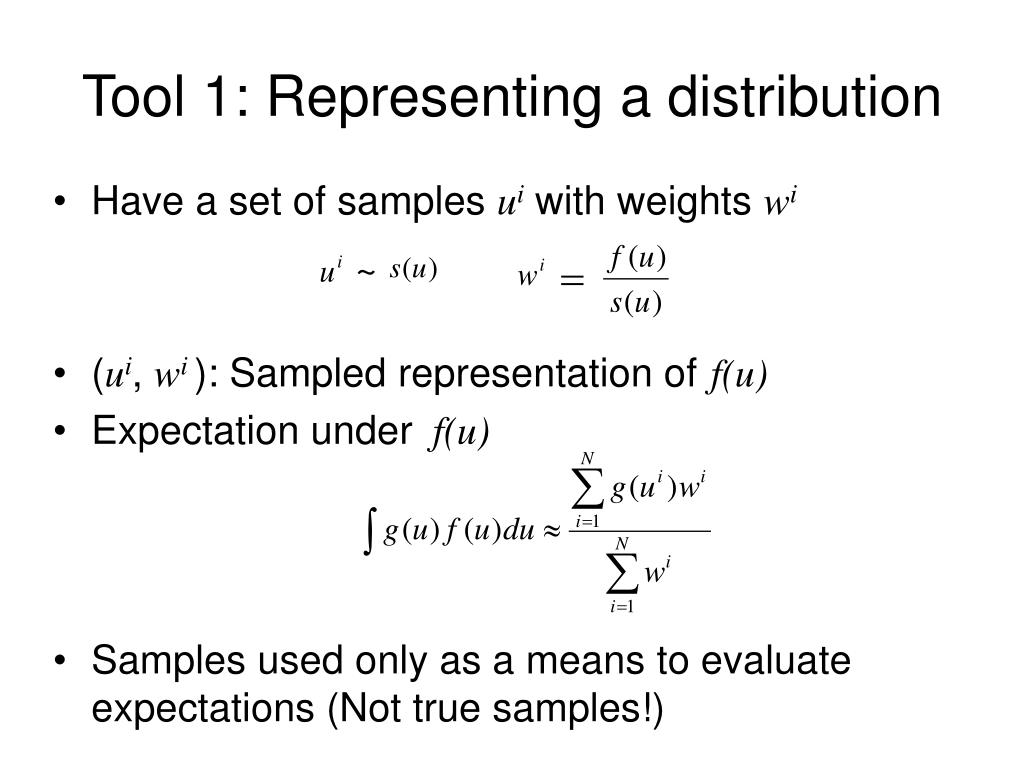 Tool 1: Representing a distribution