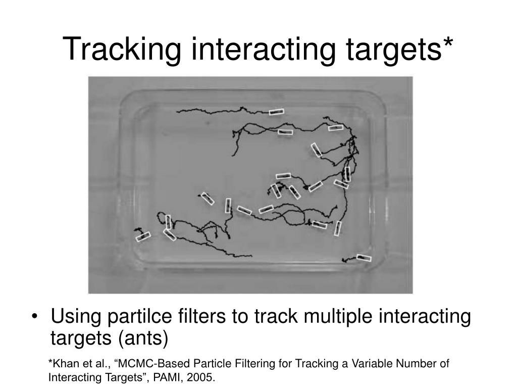 Tracking interacting targets*