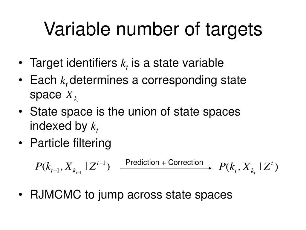 Variable number of targets
