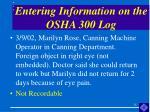 entering information on the osha 300 log24