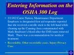 entering information on the osha 300 log25