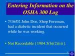 entering information on the osha 300 log28