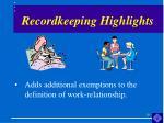 recordkeeping highlights10