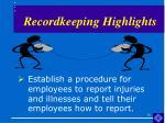recordkeeping highlights16