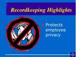 recordkeeping highlights17