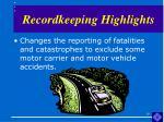 recordkeeping highlights19