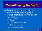 recordkeeping highlights3