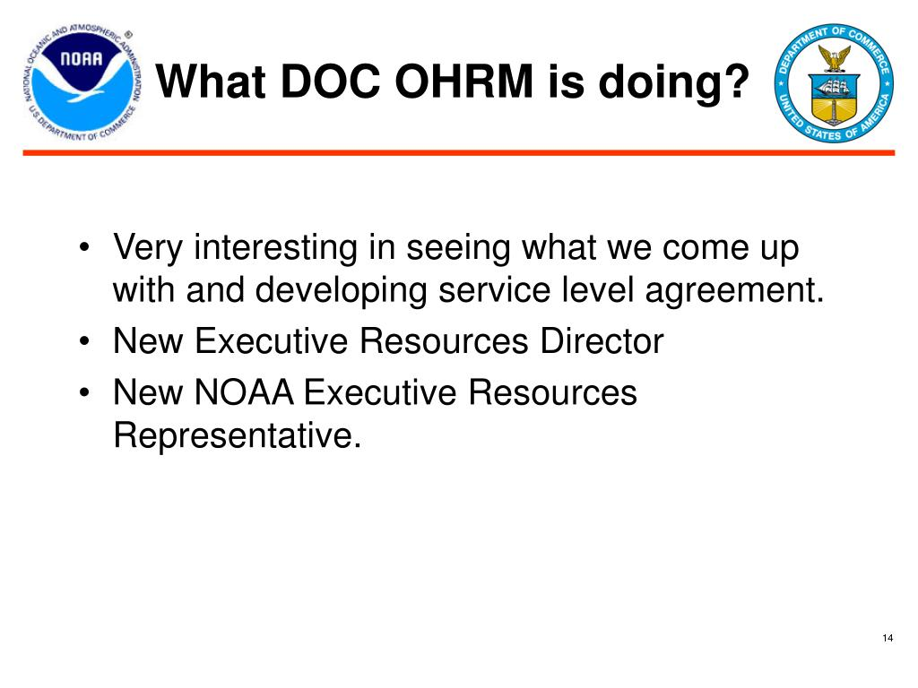 What DOC OHRM is doing?