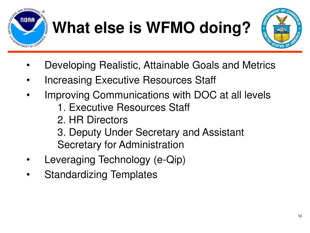 What else is WFMO doing?